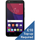 more details on O2 Alcatel PIXI 4 5 Inch 4G Mobile Phone - Black.