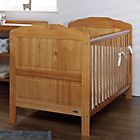 more details on Obaby Beverley Cot Bed, Mattress & White Bedding –  Pine
