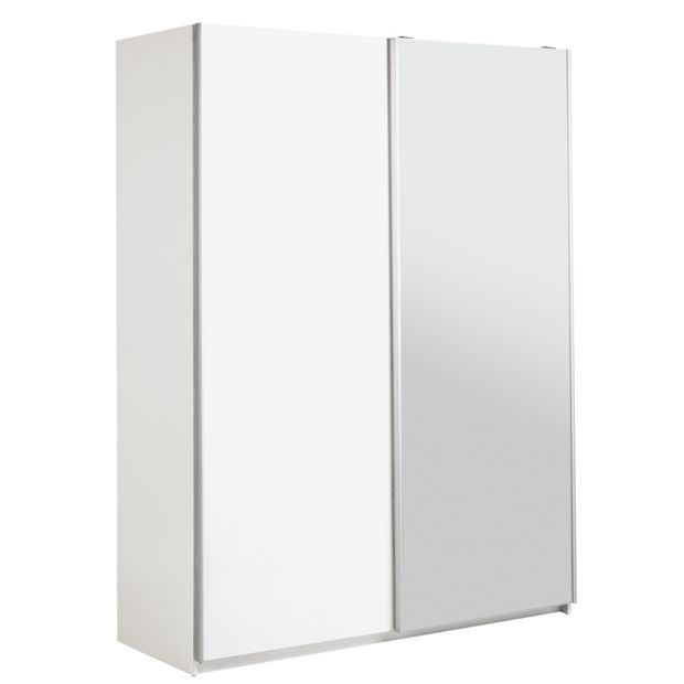 Buy Hygena Bergen 2 Door Sliding Wardrobe White Gloss