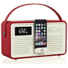 more details on VQ Retro Bluetooth DAB Radio - Red.