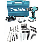 more details on Makita 18v Combi Drill and 74 piece Bit Set.