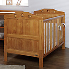 more details on Obaby Lisa Cot Bed, Mattress & Cream Bedding – Country Pine.