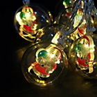 more details on The Christmas Workshop Santa Bauble String Lights.