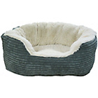 more details on Jumbo Cord Plush Small Bed - Grey.
