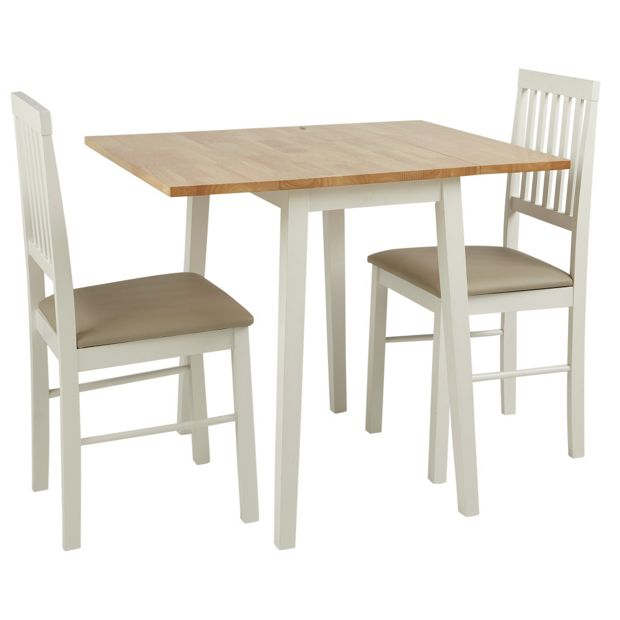 Buy home kendall drop leaf table and 2 dining chairs two tone at your online Buy home furniture online uk