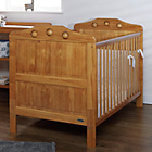 more details on Obaby Lisa Cot Bed, Mattress & White Bedding – Country Pine.