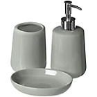 more details on Premier Housewares Moon 3 Piece Bathroom Set-Pale Grey/Blue.