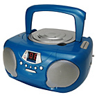 more details on Groov-e GVPS713/BE Boombox CD Player with Radio - Blue.