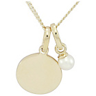 more details on 9ct Gold Plated Sterling Silver Pearl Charm Pendant.
