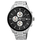 more details on Seiko Men's Chronograph Black Dial Stainless Steel Watch.