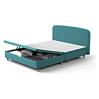 more details on Studio by Silentnight Curved Double Ottoman Bed Frame - Teal