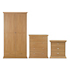 more details on HOME Canterbury 3 Piece Package - Oak Effect.