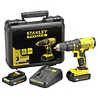 more details on Stanley Fatmax 1 3AH Hammer Drill With 2 Batteries- 18V.