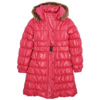 Cherokee Girls Pink Three Quarter Length Padded Coat & Belt