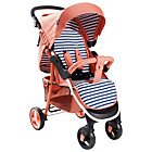 more details on My Babiie MB30 Coral Stripe Pushchair.