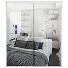 more details on Spacepro Kits 2 X 36in Classic White Framed Mirror Doors.