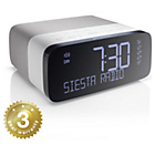 more details on Pure Siesta Rise DAB+/FM Bedside Alarm Clock - White.