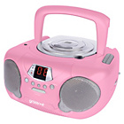 more details on Groov-e GVPS713/PK Boombox CD Player with Radio - Pink.