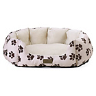more details on Kingpets Value Medium Oval Paw Print Bed.