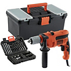 Black & Decker Corded Drill with 32 piece Drill Bit Set.