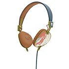 Skullcandy Knockout Headphones with Mic - Teal/Coral/Gold