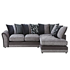 more details on Collection Rhiannon Fabric Right Corner Sofa - Black/Silver.