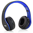more details on Acoustic Solutions Bluetooth Headphones - Black and Blue.