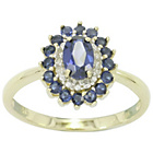 more details on 9ct Gold Sapphire and Diamond Ring - P.