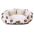 more details on Kingpets Value Small Paw Print Oval Bed.