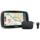 TomTom 5100 5 Inch Traffic Sat Nav World Maps, Charger, Case