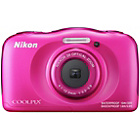 more details on Nikon CoolPix W100 13MP Waterproof Camera - Pink.
