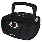 more details on Groov-e GVPS713/BK Boombox CD Player with Radio - Black.