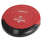 more details on Groov-e GVPS110/RD Retro Personal CD Player - Red.