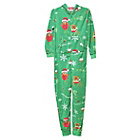 more details on The Christmas Workshop Green Xmas Onesie - 8-10.