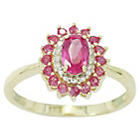 more details on 9ct Gold Ruby and Diamond Ring - P.