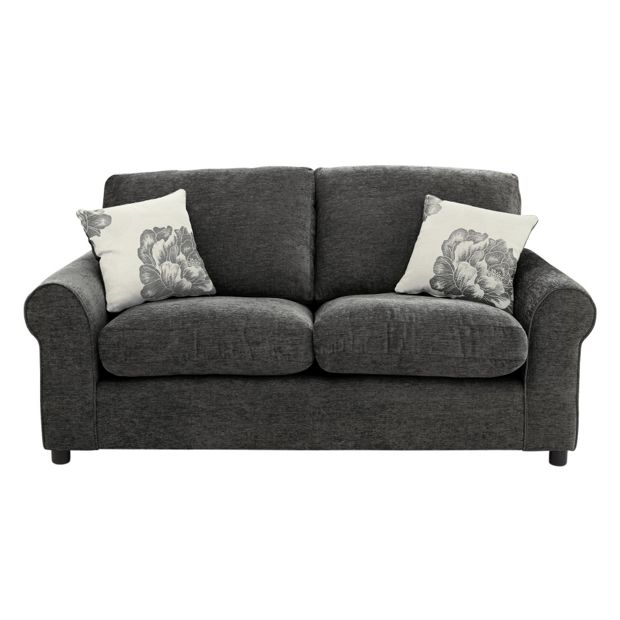 Buy Home Tessa 2 Seater Fabric Sofa Charcoal At