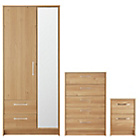 more details on Collection Tilbury 3 Piece Bedroom Package - Oak Effect.