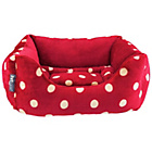 more details on Petface Medium Plush Bed - Red & Cream.