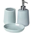 more details on Premier Housewares Moon 3 Piece Bathroom Set - Pale Blue.