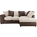 more details on HOME Annabelle Fabric Right Hand Corner Sofa - Mink.