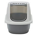 more details on Front Opening Hooded Cat Loo - Grey.