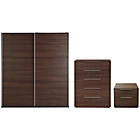 more details on Hygena Bergen 3 Piece Large Wardrobe Package - Walnut Effect