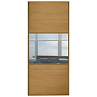more details on Spacepro Linear 36in 3 Panel Oak Mirror Door.