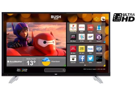 Bush 4K Smart TVs From only £299.99.
