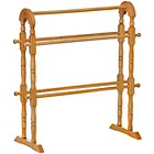 more details on Premier Housewares Wooden 5 Rail Towel Rail - Oak Finish.