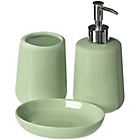 more details on Premier Housewares Moon 3 Piece Bathroom Set - Pale Green.