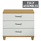 more details on Myra Large 3 Drawer Chest - Oak Effect and White.