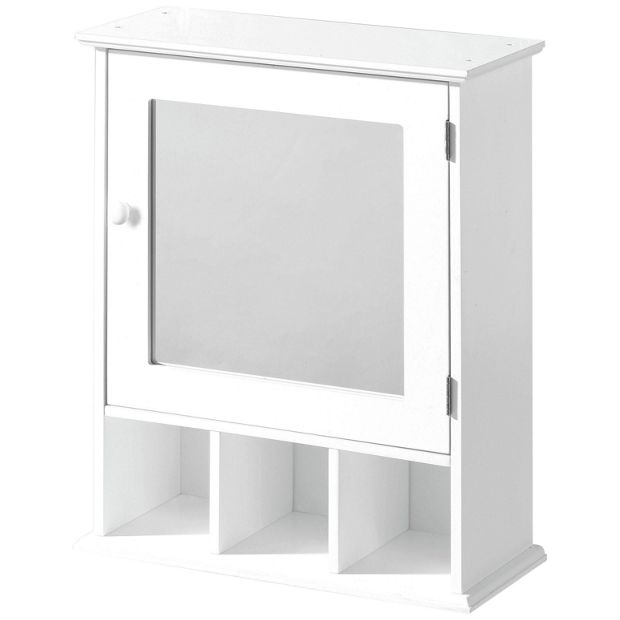 buy premier housewares wooden cabinet with mirror white. Black Bedroom Furniture Sets. Home Design Ideas
