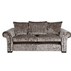 more details on HOME Glitz Large Fabric Sofa - Mink.
