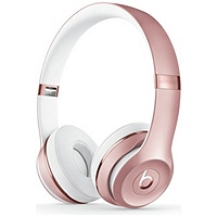 Beats by Dr. Dre Solo3 On-Ear 3.5mm Wireless Bluetooth Earphones Headphones (Rose Gold)